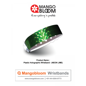 Plastic Holographic Wristband - Neon  Lime 400 x 600