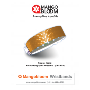 Plastic Holographic Wristband - Orange 400 x 600