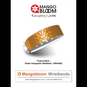 Plastic Holographic Wristband - Orange 400 x 600