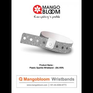 Plastic Sparkle Wristband - Silver  400 x 600
