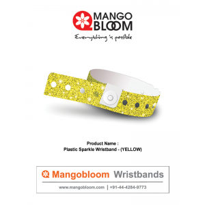 Plastic Sparkle Wristband - Yellow 400 x 600