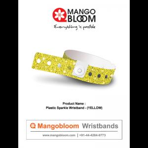 Plastic Sparkle Wristband - Yellow 400 x 600
