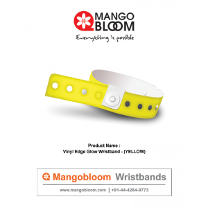 Vinyl Edge Glow Wristband- Yellow 400 x 600